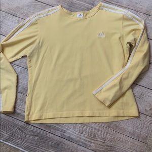 Adidas cropped yellow long sleeved shirt